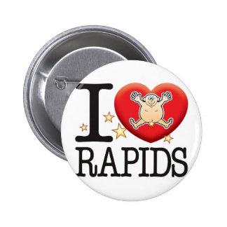 Hombre del amor de los Rapids Pin Redondo 5 Cm