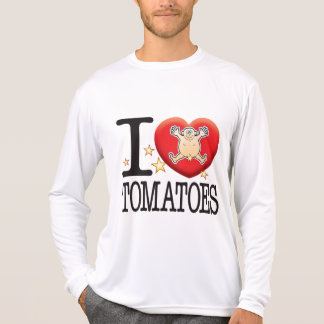 Hombre del amor de los tomates tee shirt