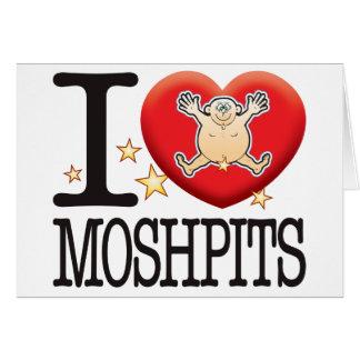 Hombre del amor de Moshpits Tarjeta De Felicitación