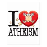 Hombre del amor del ateísmo postal