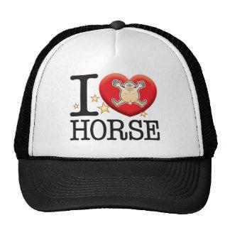 Hombre del amor del caballo gorras