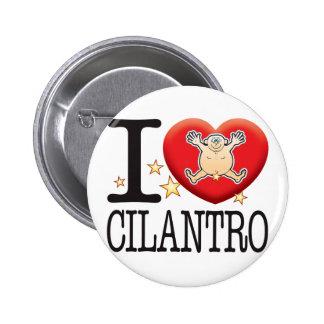 Hombre del amor del Cilantro Pin Redondo De 2 Pulgadas
