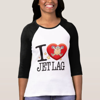 Hombre del amor del jet lag t-shirt