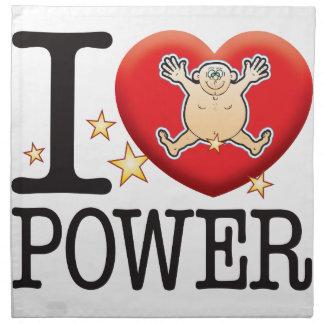Hombre del amor del poder servilleta