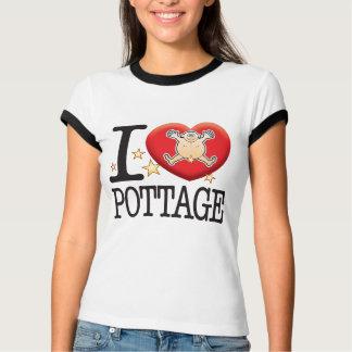 Hombre del amor del Pottage Playera