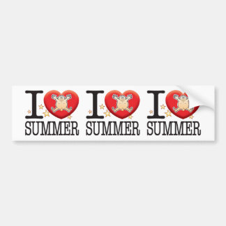 Hombre del amor del verano pegatina para auto