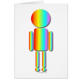 Hombre del arco iris tarjeta de felicitación