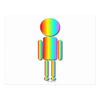 Hombre del arco iris tarjeta postal