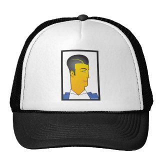 Hombre del art déco gorra