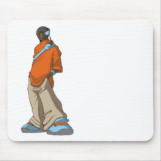 Hombre del auricular de Hip Hop Mouse Pads