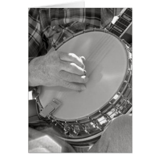 Hombre del banjo tarjetas