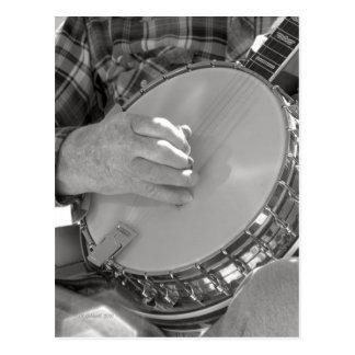 Hombre del banjo tarjeta postal