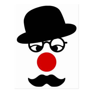 Hombre del bigote con la nariz del gorra y del pay postales