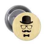 Hombre del bigote pins