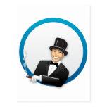 Hombre del casino tarjetas postales