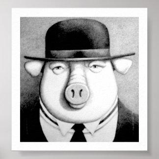 Hombre del cerdo poster