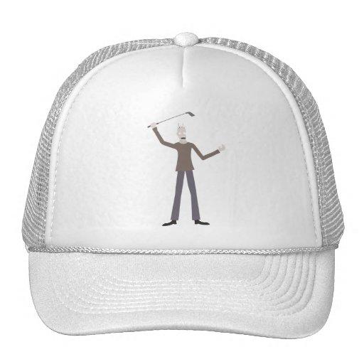 Hombre del club de golf gorras de camionero