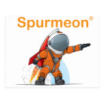 Hombre del cohete de Spurmeon Postales