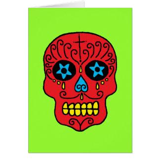 Hombre del cráneo del azúcar tarjeta de felicitación