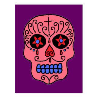Hombre del cráneo del azúcar tarjeta postal