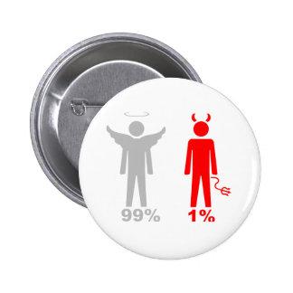 Hombre del diablo del ángel el 1% del 99% pin