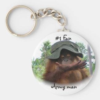 Hombre del ejército de la fan #1 llavero redondo tipo pin