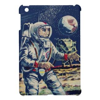 Hombre del espacio del astronauta en caso de Ipad