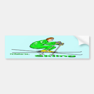 Hombre del esquí pegatina de parachoque