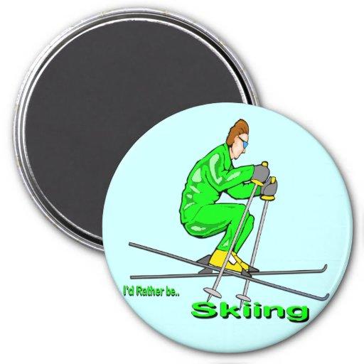 Hombre del esquí imán para frigorifico