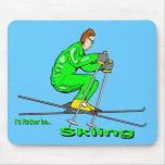 Hombre del esquí tapetes de ratón