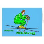 Hombre del esquí tarjetas
