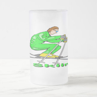 Hombre del esquí taza de café