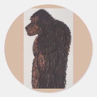 Hombre del gigante de Dogsquatch Pegatina Redonda