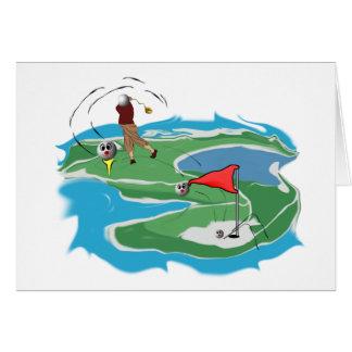 Hombre del golf tarjeta de felicitación