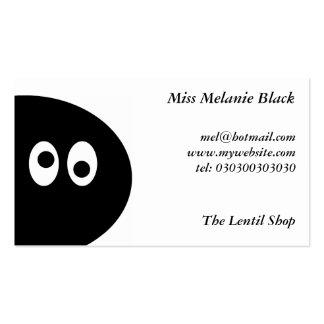 Hombre del guisante negro tarjetas de visita
