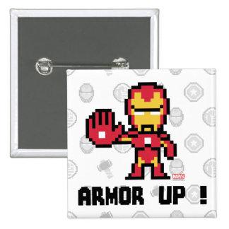 ¡hombre del hierro 8Bit - armadura para arriba! Pin Cuadrado
