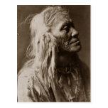 Hombre del indio del nativo americano de Luqaiot Postal