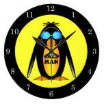 hombre del jazz del pingüino relojes de pared