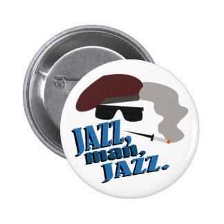 Hombre del jazz pin redondo 5 cm