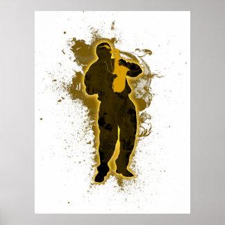 Hombre del jazz póster