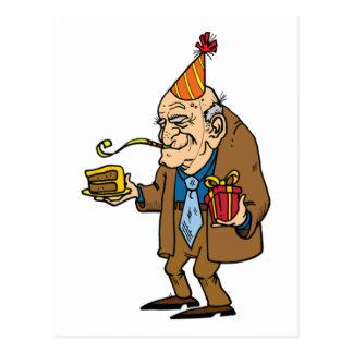 hombre del jubilado del dibujo animado tarjetas postales
