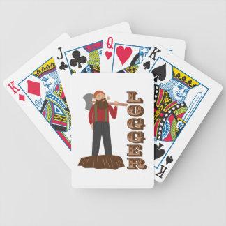 Hombre del maderero baraja de cartas