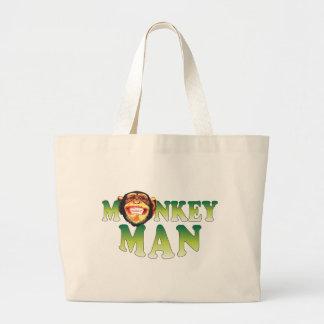 Hombre del mono bolsas de mano
