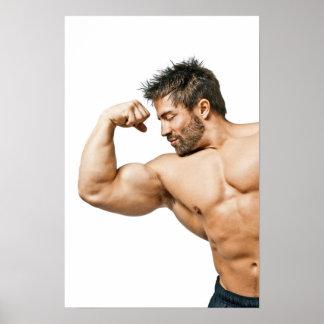 Hombre del músculo póster
