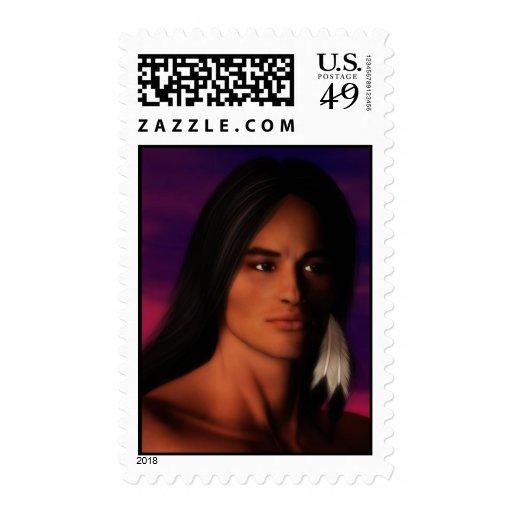 Hombre del nativo americano sellos