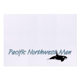 Hombre del noroeste pacífico de la CAMISETA Plantilla De Tarjeta De Visita