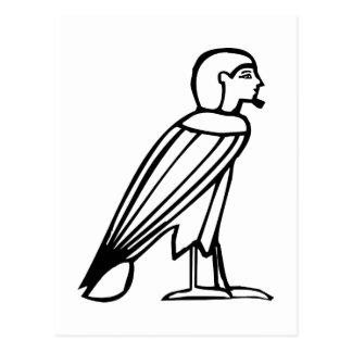 Hombre del pájaro (alma), jeroglífico egipcio tarjeta postal