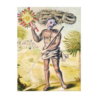 Hombre del Penitent en la India Lona Envuelta Para Galerias