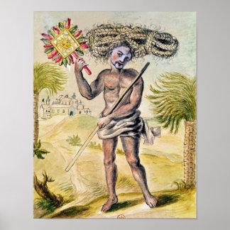 Hombre del Penitent en la India Póster