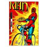 Hombre del piñón - super héroe de ciclo de la bici tableros blancos